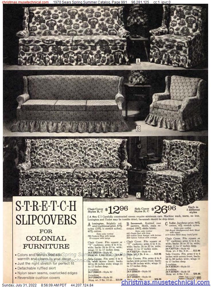 1970 Sears Spring Summer Catalog, Page 991