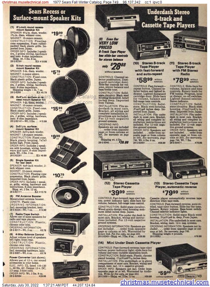 1977 Sears Fall Winter Catalog, Page 749