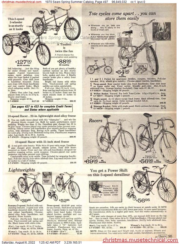1970 Sears Spring Summer Catalog, Page 497