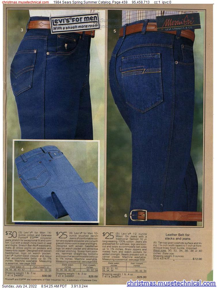 1984 Sears Spring Summer Catalog, Page 459