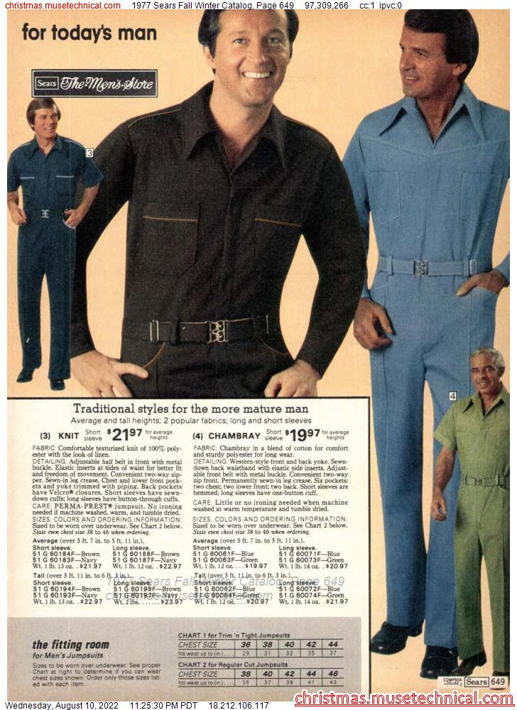 1977 Sears Fall Winter Catalog, Page 649