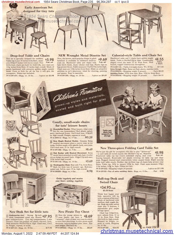 1954 Sears Christmas Book, Page 235