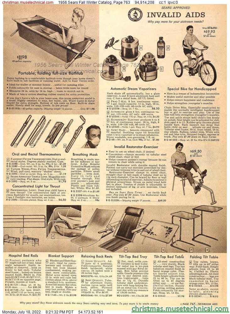 1956 Sears Fall Winter Catalog, Page 763