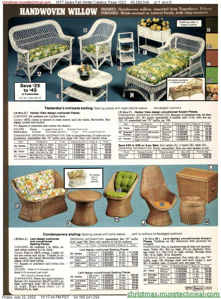 1977 Sears Fall Winter Catalog, Page 1323