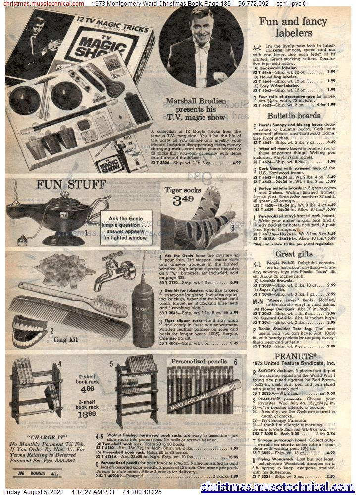 1973 Montgomery Ward Christmas Book, Page 186