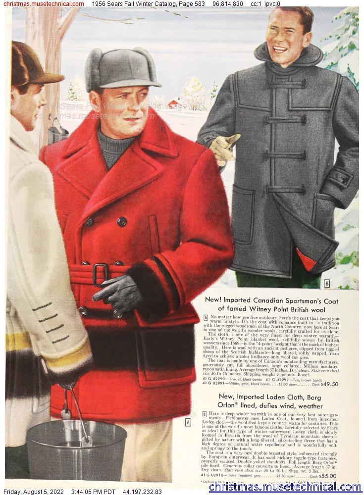 1956 Sears Fall Winter Catalog, Page 583