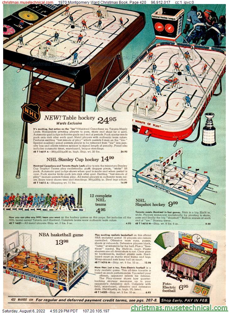 1970 Montgomery Ward Christmas Book, Page 420