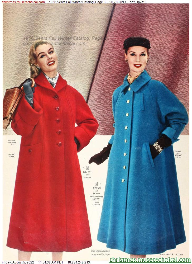 1956 Sears Fall Winter Catalog, Page 8