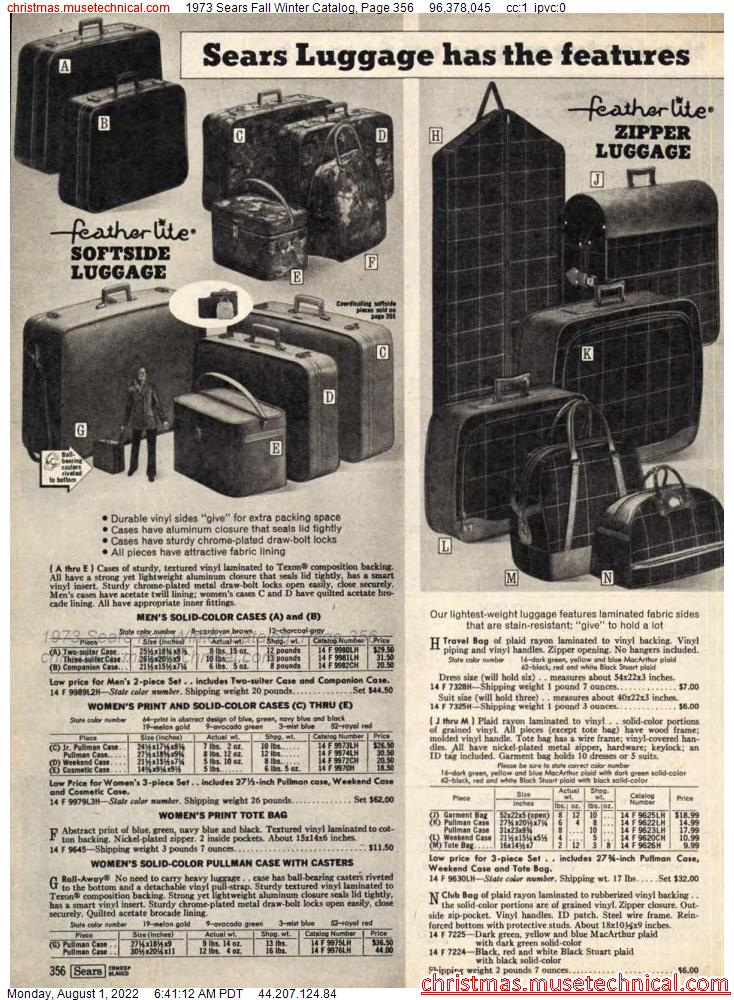1973 Sears Fall Winter Catalog, Page 356