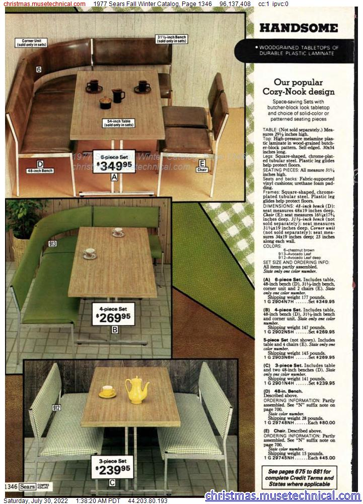 1977 Sears Fall Winter Catalog, Page 1346