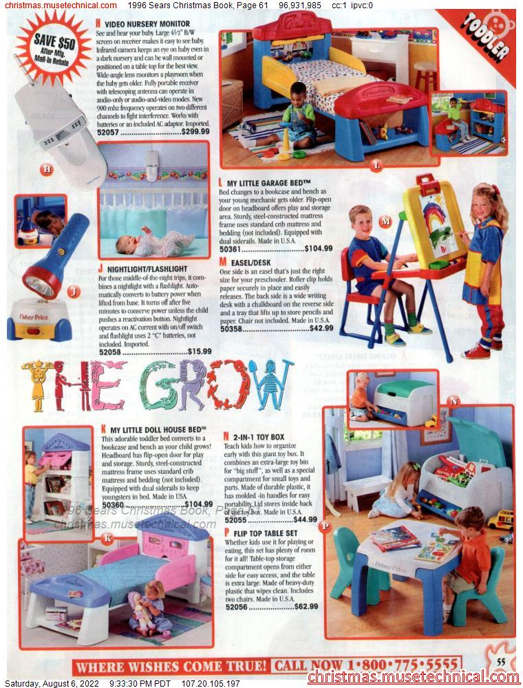 1996 Sears Christmas Book, Page 61