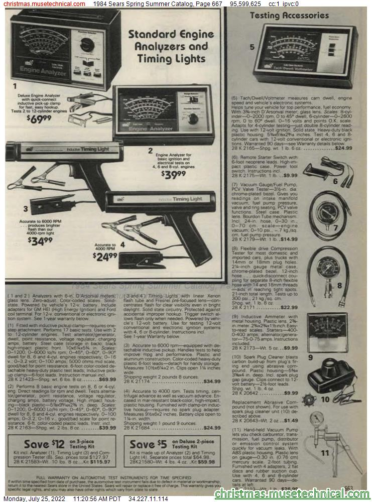 1984 Sears Spring Summer Catalog, Page 667