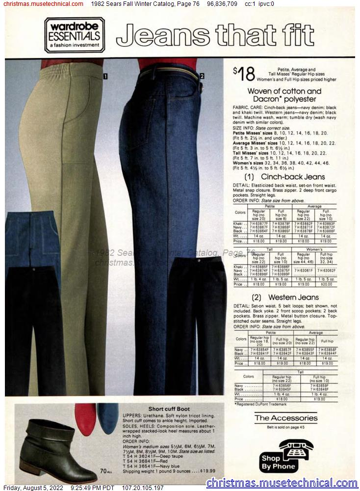 1982 Sears Fall Winter Catalog, Page 76