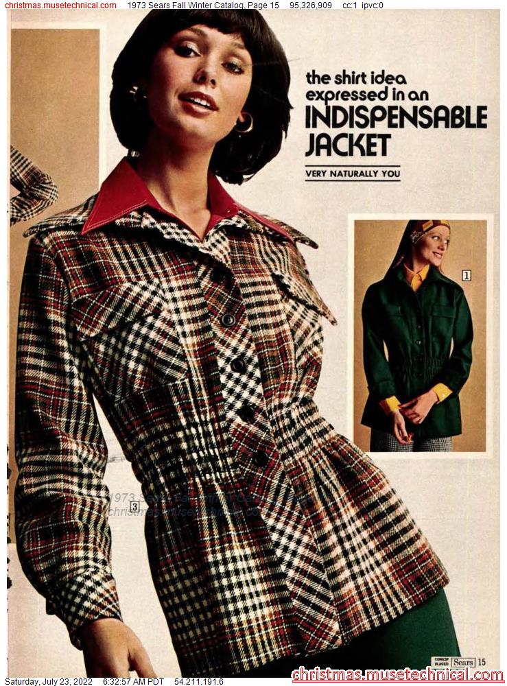 1973 Sears Fall Winter Catalog, Page 15