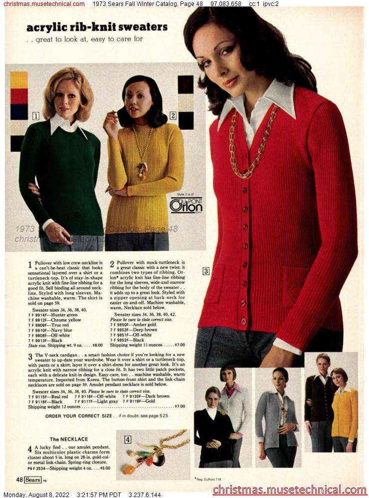 1973 Sears Fall Winter Catalog, Page 48