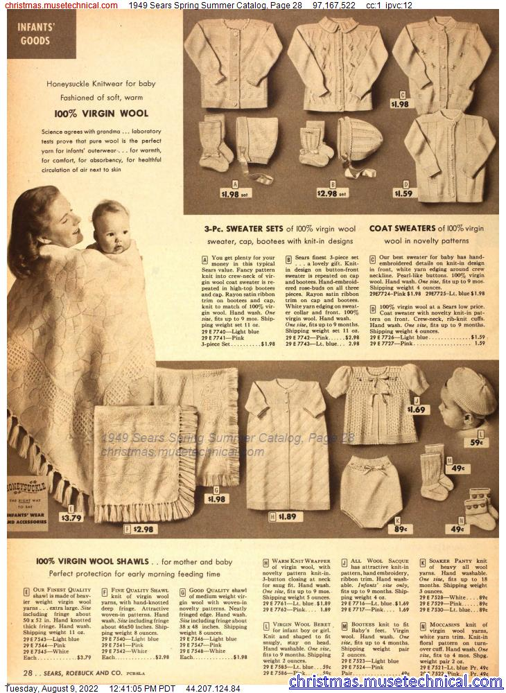 1949 Sears Spring Summer Catalog, Page 28