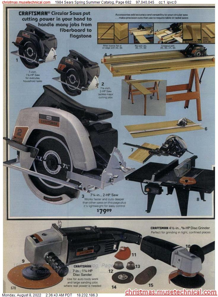 1984 Sears Spring Summer Catalog, Page 682