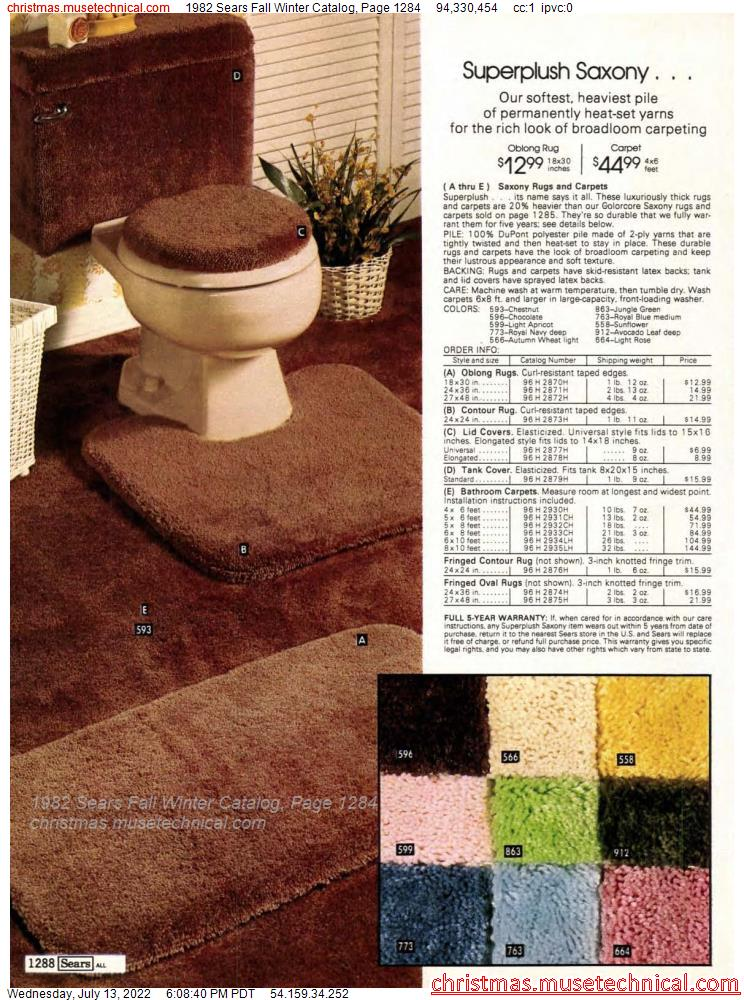 1982 Sears Fall Winter Catalog, Page 1284