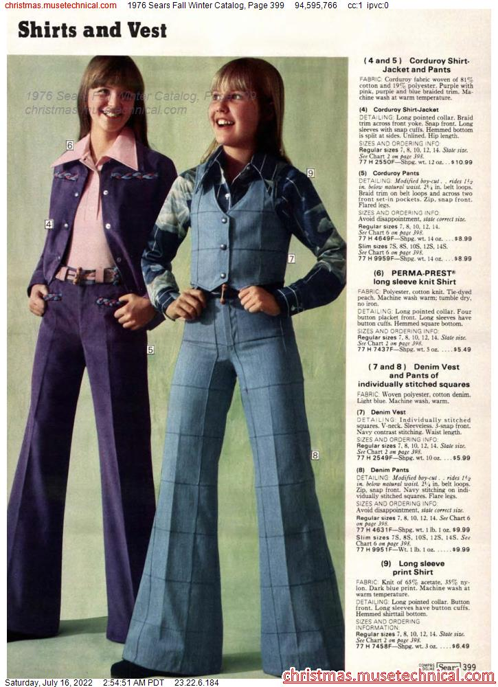 1976 Sears Fall Winter Catalog, Page 399