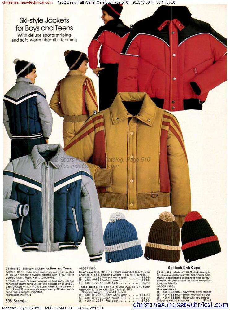 1982 Sears Fall Winter Catalog, Page 510