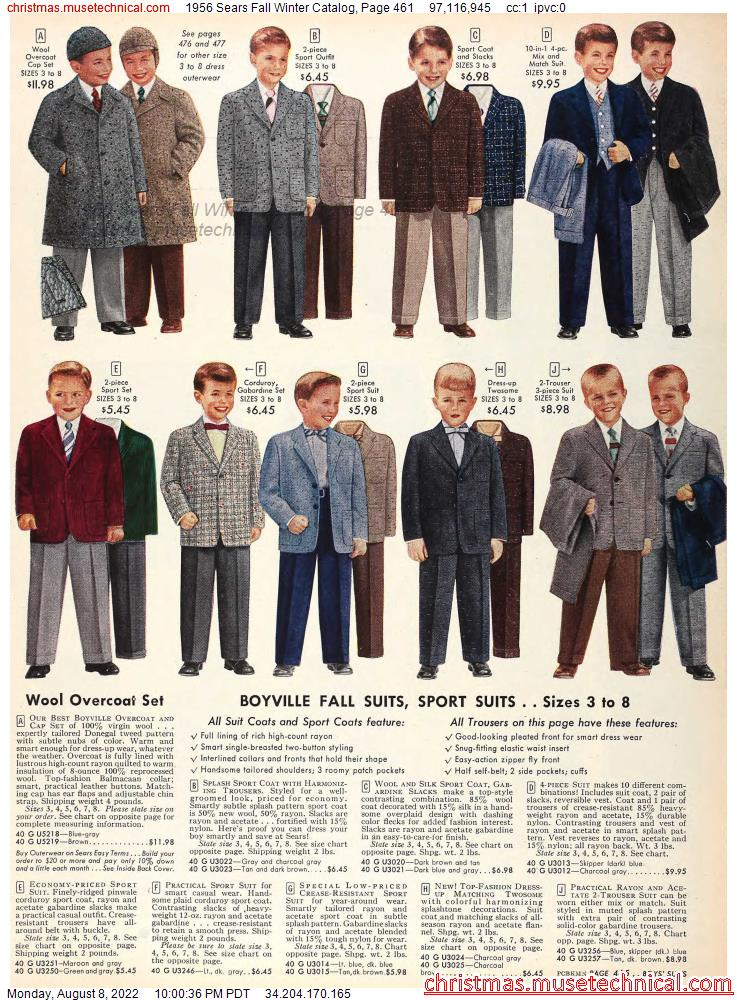 1956 Sears Fall Winter Catalog, Page 461