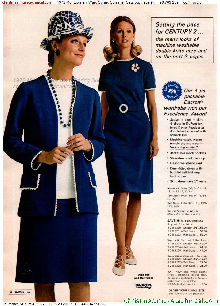 1972 Montgomery Ward Spring Summer Catalog, Page 94