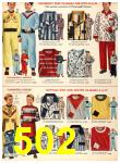 1956 Sears Fall Winter Catalog, Page 502