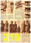 1940 Sears Fall Winter Catalog, Page 210