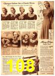 1940 Sears Fall Winter Catalog, Page 108