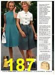 1969 Sears Spring Summer Catalog, Page 187
