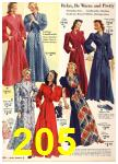 1940 Sears Fall Winter Catalog, Page 205
