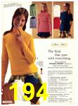 1971 Sears Fall Winter Catalog, Page 194