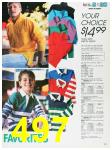 1988 Sears Fall Winter Catalog, Page 497