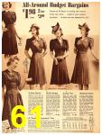 1940 Sears Fall Winter Catalog, Page 61