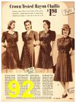 1940 Sears Fall Winter Catalog, Page 92