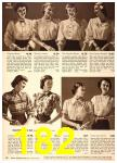 1949 Sears Spring Summer Catalog, Page 182