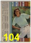 1984 Sears Spring Summer Catalog, Page 104