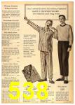 1962 Sears Fall Winter Catalog, Page 538