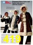 1974 Sears Fall Winter Catalog, Page 419