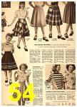 1949 Sears Spring Summer Catalog, Page 54