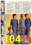 1962 Sears Fall Winter Catalog, Page 104