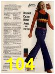 1972 Sears Fall Winter Catalog, Page 104