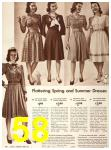 1942 Sears Spring Summer Catalog, Page 58