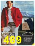 1986 Sears Fall Winter Catalog, Page 489