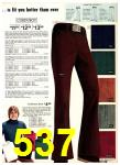 1975 Sears Fall Winter Catalog, Page 537
