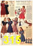 1940 Sears Fall Winter Catalog, Page 315