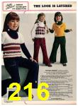 1973 Sears Fall Winter Catalog, Page 216
