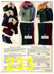 1973 Sears Fall Winter Catalog, Page 233
