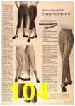 1963 Sears Fall Winter Catalog, Page 104