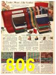 1940 Sears Fall Winter Catalog, Page 806